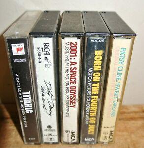 Vintage Lot Of 5 **MOVIE SOUNDTRACK** Cassette Tapes