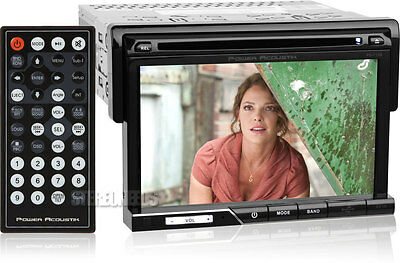 "POWER ACOUSTIK PD-710 CAR 7"" TOUCHSCREEN MONITOR CD/DVD/USB PLAYER SINGLE 1 DIN"