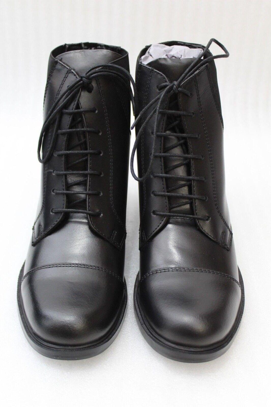 Brenton Deluxe Stable Reitstiefelette 545-BLK-38 Leder Größe 38 black NEU
