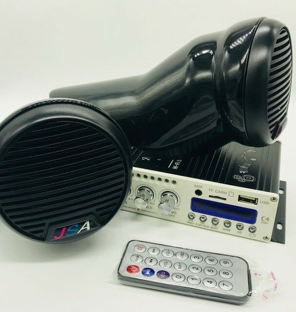Yamaha FZR FZS EX JETSKI 2 SPEAKER POD STEREO AMP blueETOOTH UNIVERSAL DIY