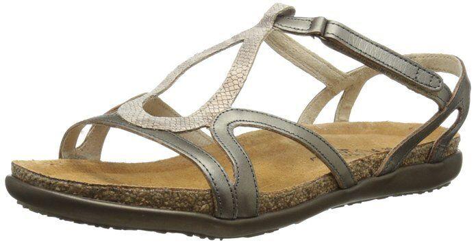 New  Woman's Naot  Dorith  Gladiator Snake Print Leather Sandals Size 5 EU36