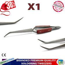 Fibre Grips Tweezers Reverse Action Soldering Stainless Steel Heat Resistant X1
