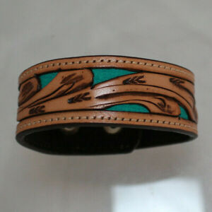 Tooled Leather Cut Out Fashion Jewelry