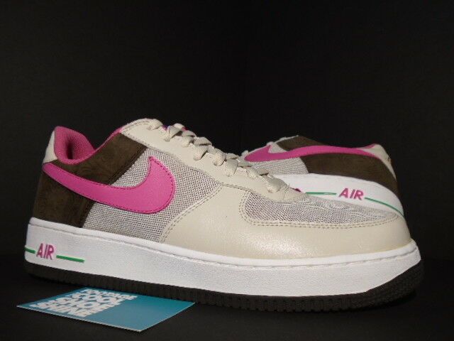 2006 Nike Air Force 1 Premium BIRCH PUNCH Rosa CINDER braun BISON Grün 12 10.5
