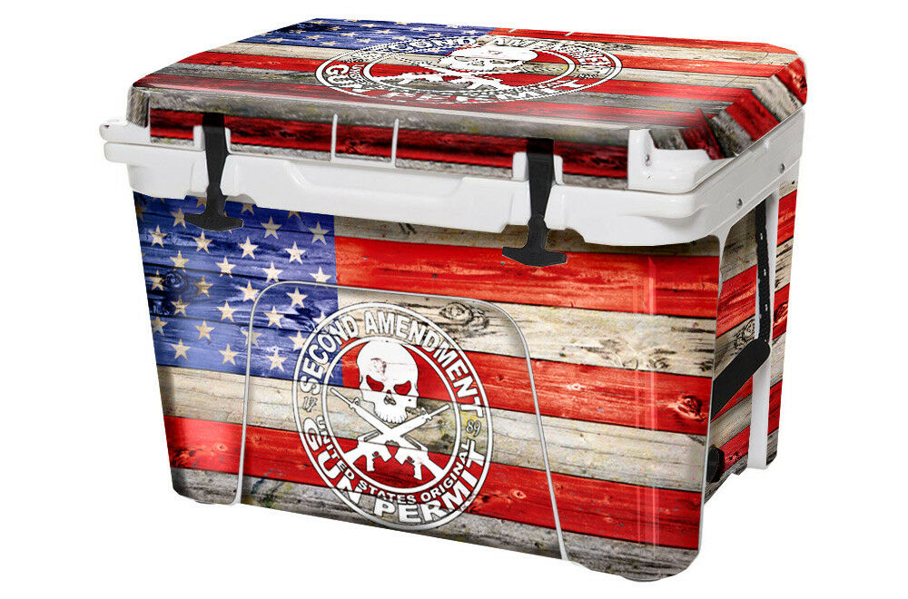USATuff Custom Cooler Wrap fits YETI Tundra 110qt FULL 2nd Amen Flag WD Clr
