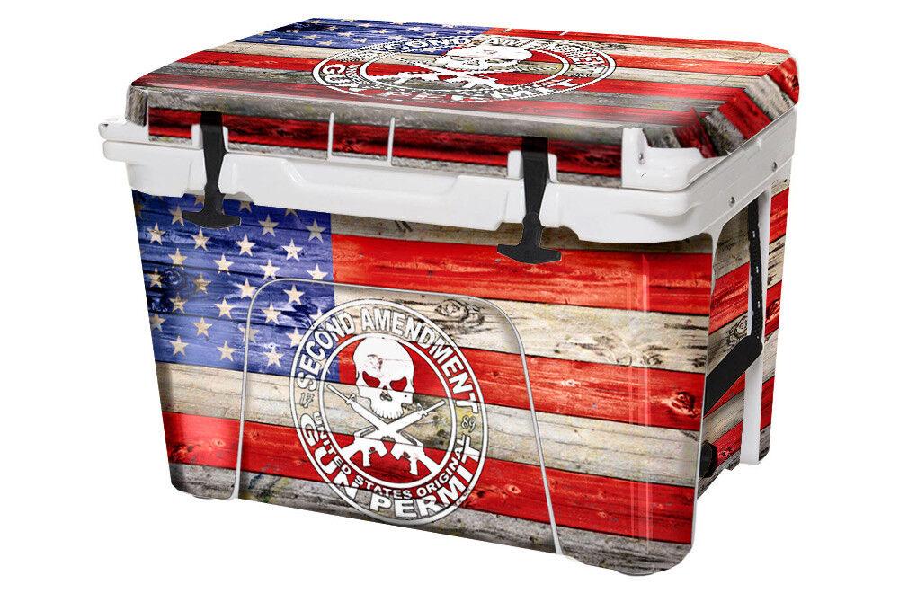 Cooler Decal Wrap fits YETI Tundra 35qt FULL 2nd Amen Flag
