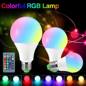 85-265V-E27-3W-5W-10W-LAMPADINA-LAMPADA-MULTICOLORI-RGB-LED-Dimmer-TELECOMANDO