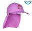 IQ-Company-UV-200-Kids-Cap-amp-Neck-CANDY-Violet-Berretto-Cappuccio-Protezione-Bambini-Viola miniatura 1