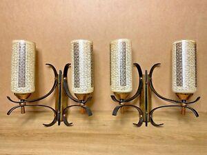 PAIRE-LAMPES-APPLIQUES-VINTAGE-DESIGN-ARLUS-LUNEL-ANNEES-50