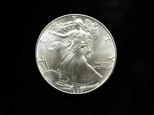 1986-U-S-SILVER-EAGLE-LOVELY-UNC-1st-YEAR-BEAUTY-1-OZ-999-SILVER