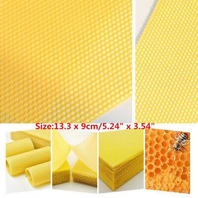 10 Pcs Yellow Honeycomb Foundation Bee Hive Wax Frames Beekeeping Part Sheet Kit
