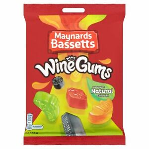 Maynards Wine Gums sweets 12 x 165 gram bags - Perfect party fillers