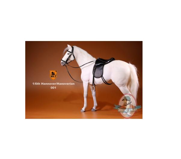 1 6 Mr.Z German Hanoverian Horse Set Weiß MRZ GHH001