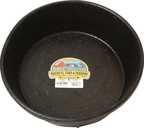 MILLER CO Rubber Feed Pan 8 quart Black