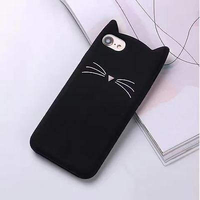 Hot Cute Bearded Cat Cartoon Soft Silicon Case Cover Back For For Various Phones