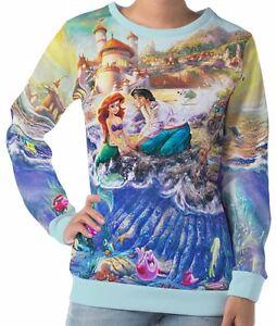 Little-Mermaid-Women-039-s-Long-Sleeve-Sweatshirts