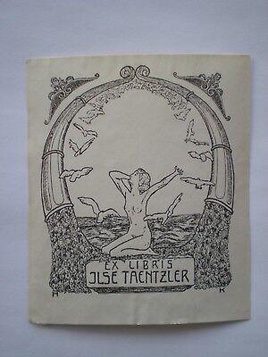 100% Wahr Exlibris, Klischee Für Ilse Taentzler, Monogrammist H K HeißEr Verkauf 50-70% Rabatt
