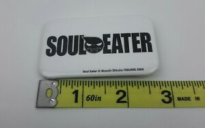 Soul-Eater-Badge-Button-White-1-5-039-039-x-2-75-039-039-Inch-Square-Enix-FREE-SHIPPING