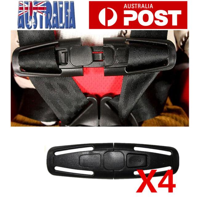 4 SET Car Baby Safety Seat Strap Belt Harness Chest Clip Child Safe Lock Buckle