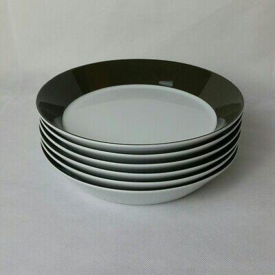 6x Arzberg Tric Violett Suppenteller 21 cm Tief Teller Porzellan