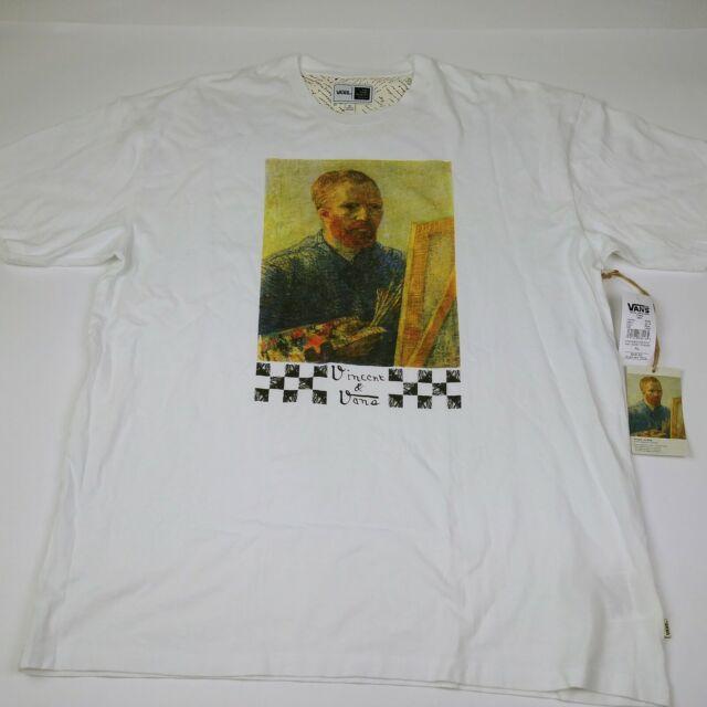 AliExpress ajaton muotoilu uusia kuvia VANS X Vincent Van Gogh Museum Oversized Tee T-shirt White Size XL
