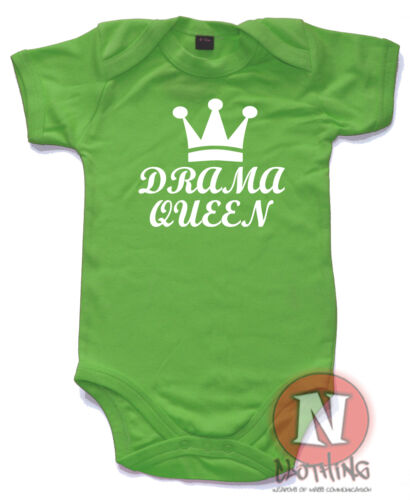 Naughtees Clothing Babygrow Drama Queen Cotton Babysuit Infant Baby vest New