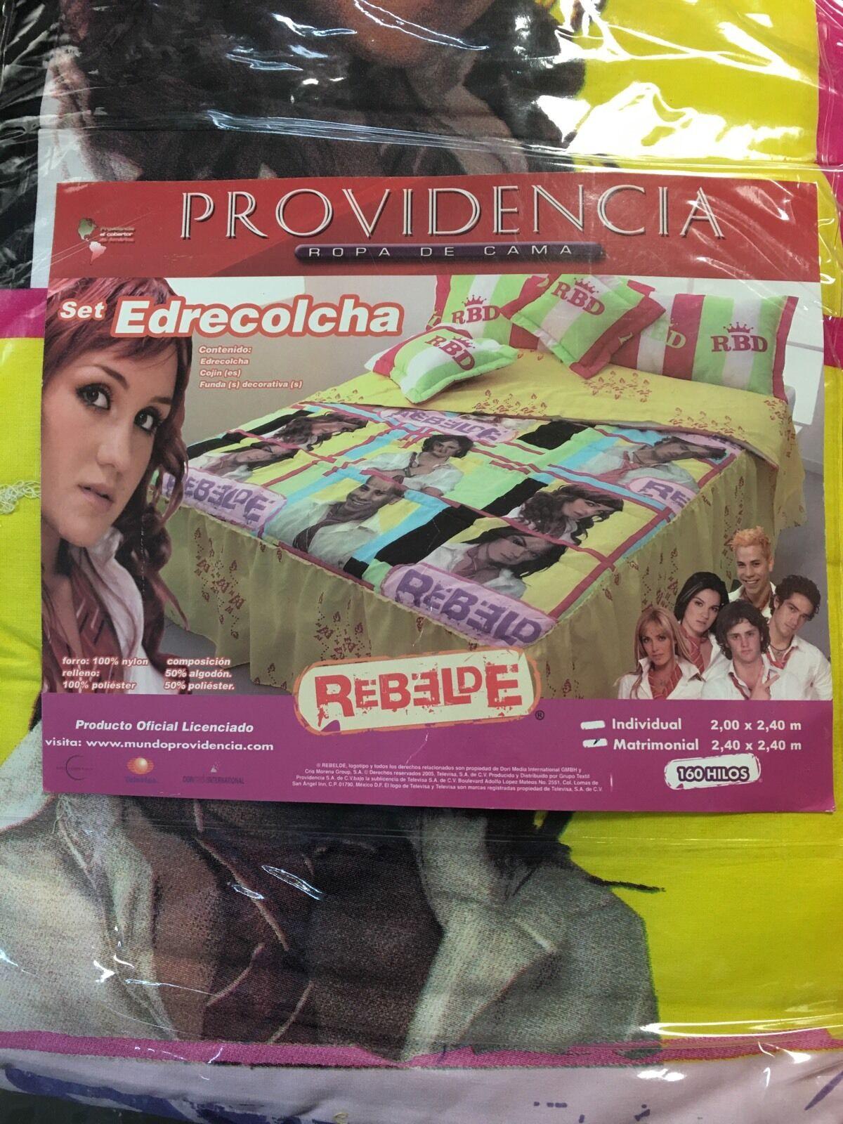BRAND NEW REBELDE RBD MATRIMONIAL FULL COMFORTER SET EDRECOLCHA 5 PIECES
