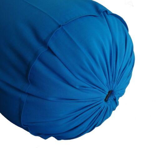 "Bolster Pillowcase 10/"" Diameter Round Bed Bolster Cover Cotton forMassage Yoga"