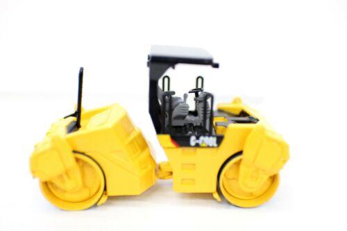 1//64 C-COOL Asphalt Road Roller Alloy Yellow Car Model Construction Vehicel Toy