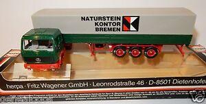 Naturstein Bremen herpa ho 1/87 truck mb mercedes mid trailer naturstein kontor bremen