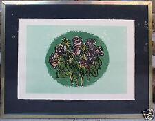 Stampa litografia composizione di fiori - Ennio Morlotti (1910-1992) Milano