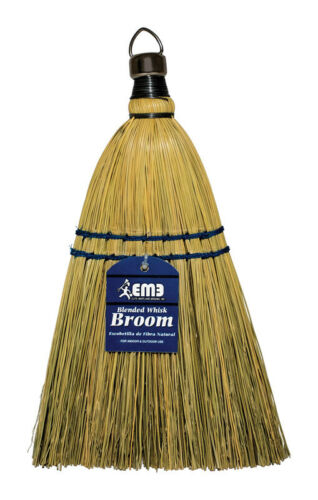 Elite Mops and Booms  8 in W Soft  Broomcorn//Yucca  Broom