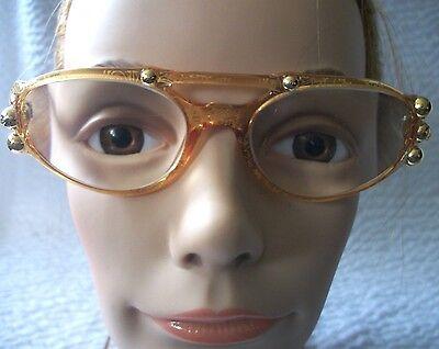 Vintage Christian Lacroix Gold Studded Eye Glasses #7363 31 Frame Only