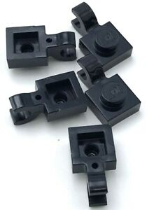 Lego 5 Black 1 x 1 Plates with Clip Pieces