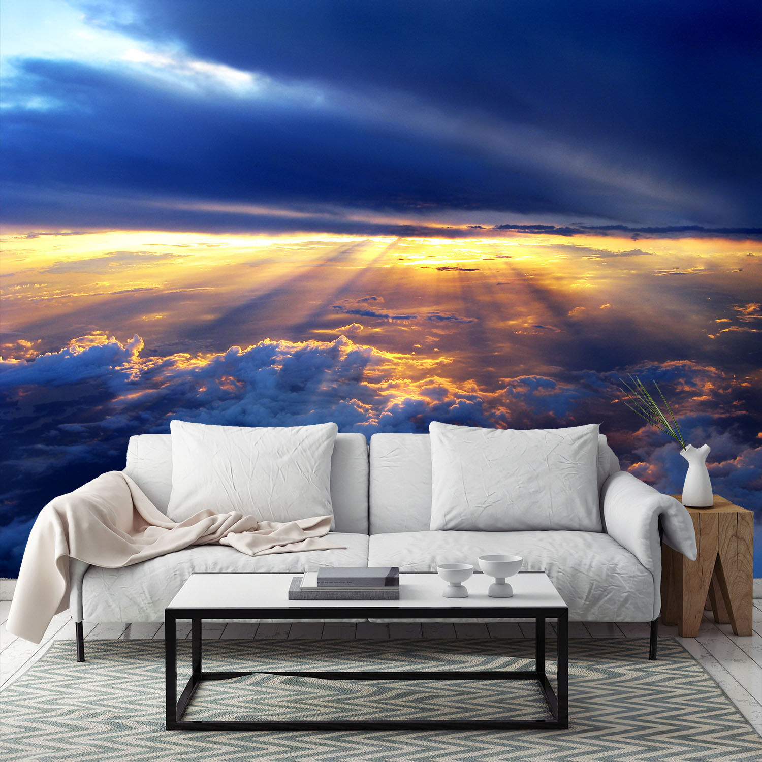 3D Sky Clouds Sun 8003 Wall Paper Wall Print Decal Wall Deco Wall Indoor Murals