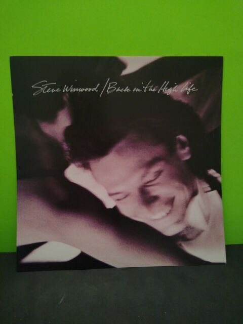 Steve Winwood Back in the High Life LP Flat Promo 12x12 Poster