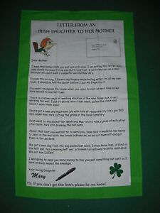 Letter from an irish daughter to her mother tea towel 5391295064606 image is loading letter from an irish daughter to her mother thecheapjerseys Choice Image