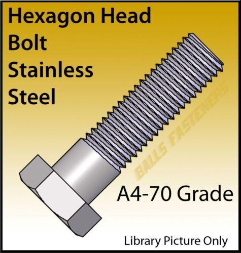 M6 M8 M10 M12 Perno de Cabeza Hexagonal Llave Hexagonal Pernos De Acero Inoxidable A4