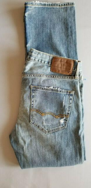 AMERICAN EAGLE AEO Men Core Flex Slim Straight Cotton Denim Jean - 31x32 Blue
