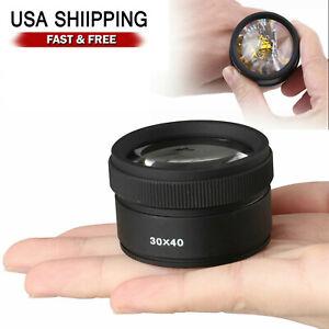 40x Magnifying Glass Eye Loop Optical Magnifier Jewelry Watch Repair Tool US