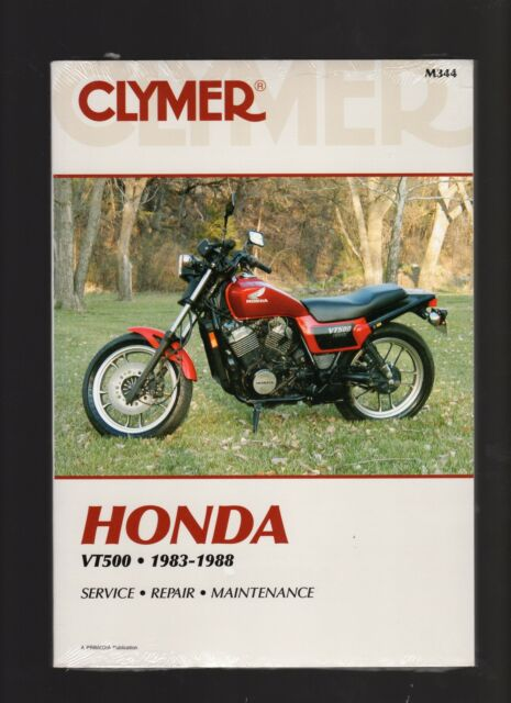 clymer repair manual for honda vt500 vt 500 83 88 ebay rh ebay com au honda shadow vt500 service manual download 1984 honda ascot vt500 service manual