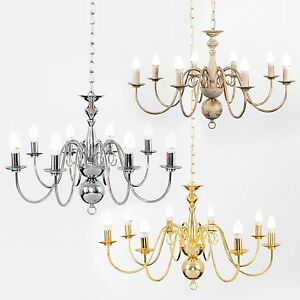 Details About Large Modern Traditional 8 Way Ceiling Chandelier Light Ing Led Bulbs