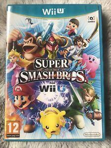 Super Smash Bros para WII U RARA Completa-NINTENDO Wii U Juego + Estuche