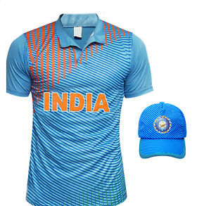b9642d5c6bd Image is loading Indian-Cricket-T-Shirt-Jersey-Cap-T20-Worldcup-