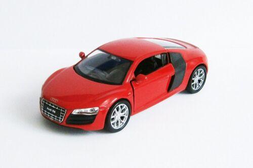 AUDI R8 V 10 Modellauto 4 Farben Metall Modell Auto Spielzeugauto WELLY 76