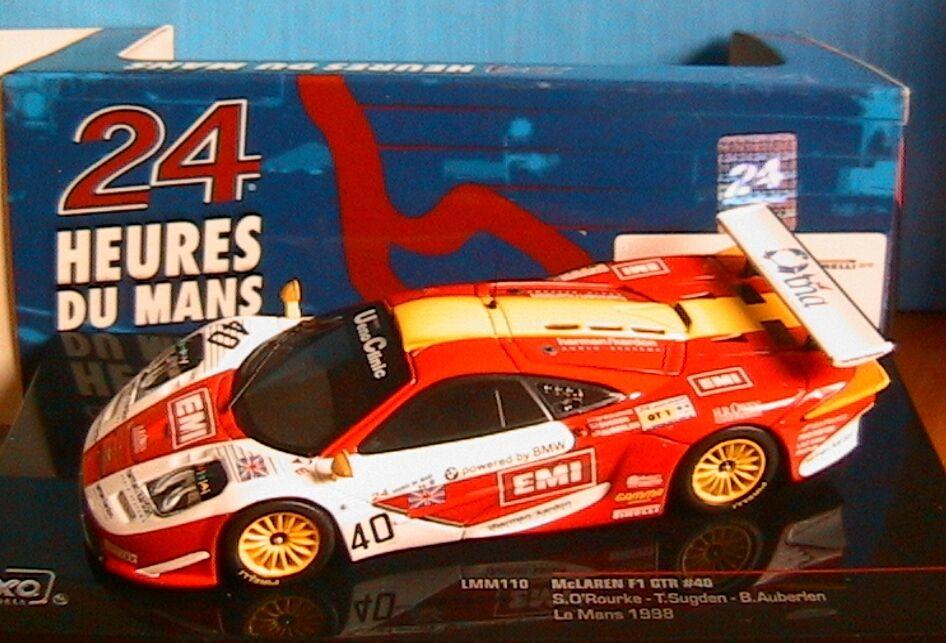 MCLAREN F1 GTR HEURES HEURES HEURES LE MANS 1998 ROURKE SUGDEN AUBERLEN IXO LMM110 1 43 35aa8c