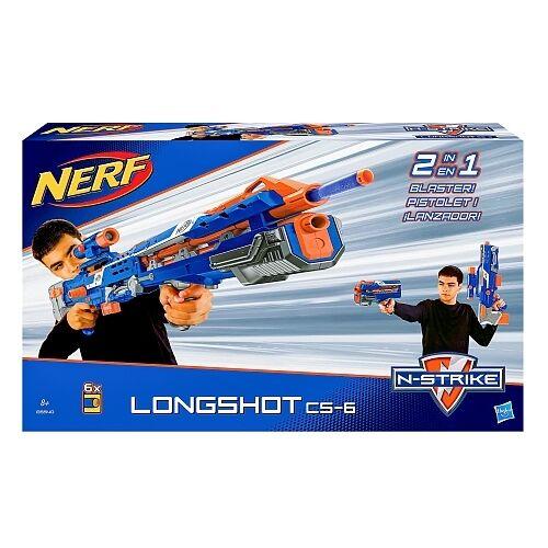 Nerf Longshot CS-6 B5540 Hasbro inkl. 6 Darts 30 Meter Neu&OVP