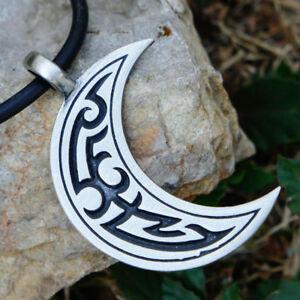 24f2e77a126e8 Image is loading Tribal-Crescent-Moon-Celtic-Tattoo -Maori-Hawaiian-Polynesian-