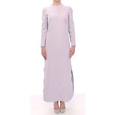 NWT $2200 BARBARA CASASOLA Purple Black Long Dress Gown Maxi Silk IT40/US6/S