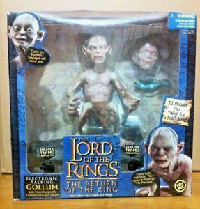 Electronic Talking Gollum-toy Biz-complet Avec Les Deux Voix Working Fine-afficher Le Titre D'origine